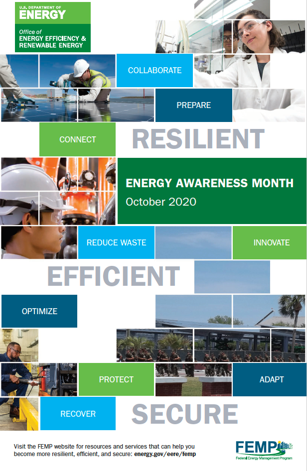 Energy Awareness Month poster for October 2020