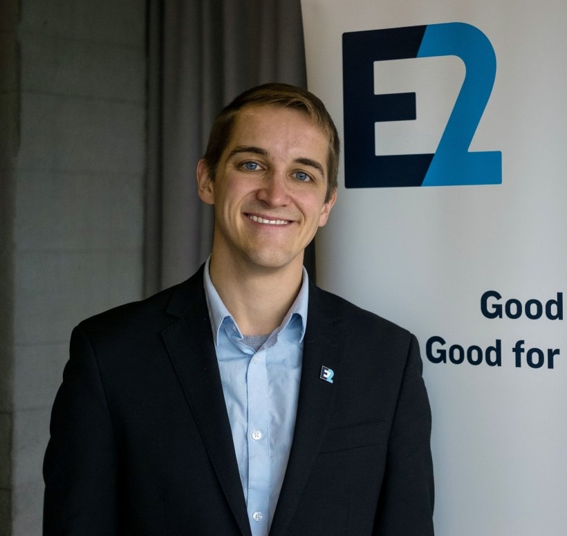 Photo of Adam Hasz, project manager for the Building Technologies Office.