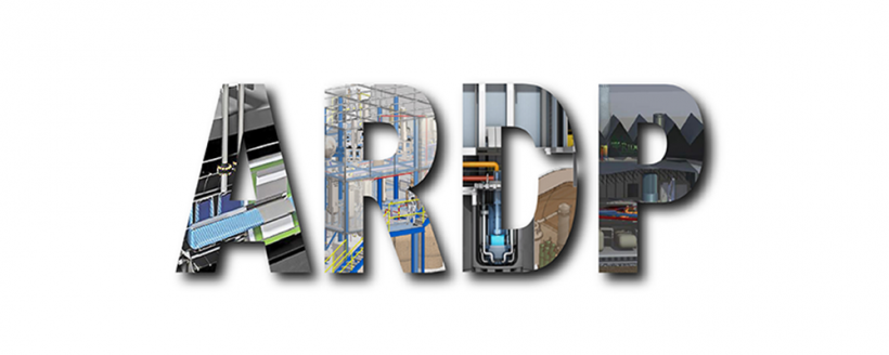 ARDP acronym with reactor pictures inside