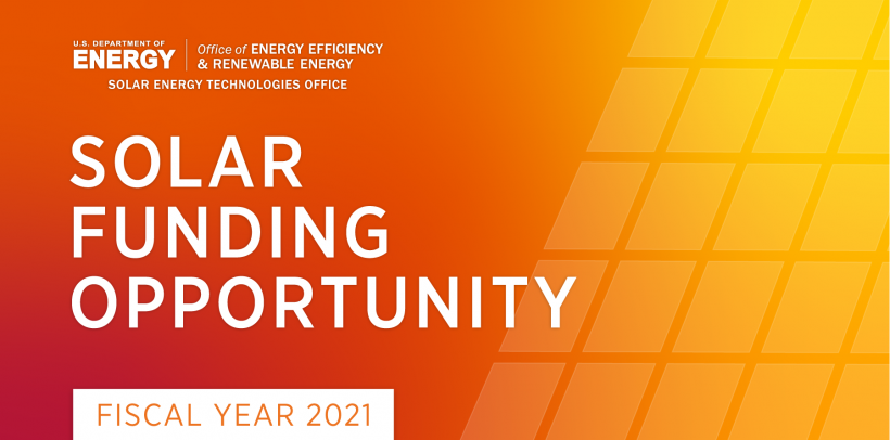 Solar Energy Technologies Office Funding Opportunity Announcement graphic