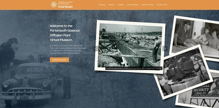 A revamped website on the history of the Portsmouth Site updates the story of the historic plant's impact through the years.