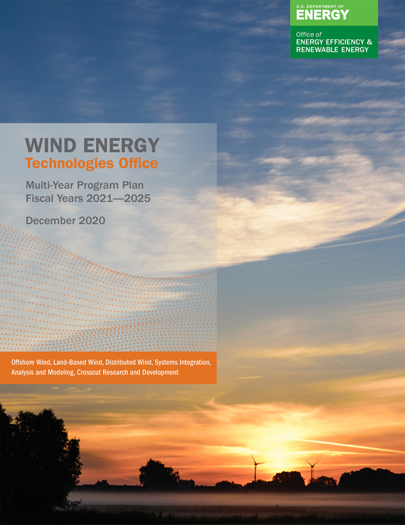 """Front cover of the """"Multi-Year Program Plan for Wind Energy Research"""""""