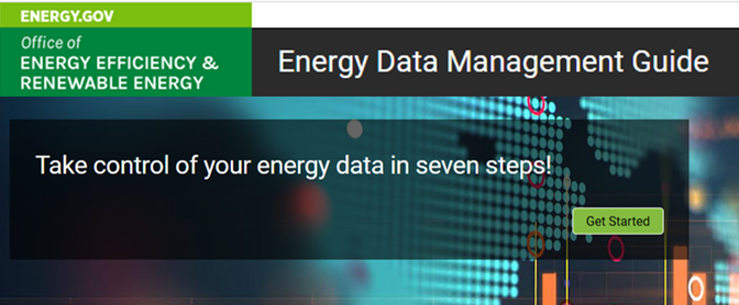 The new Energy Data Management Guide website.