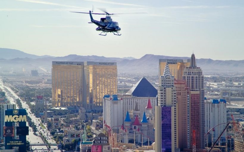 AMS Helicopter over Las Vegas
