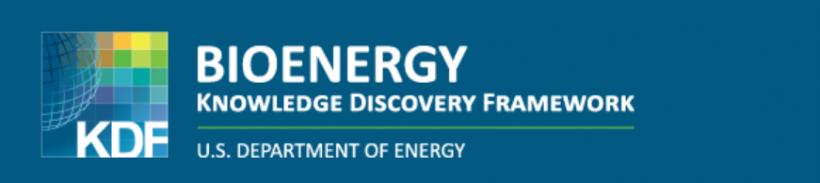 A screenshot of the KDF logo - knowledge discovery framework