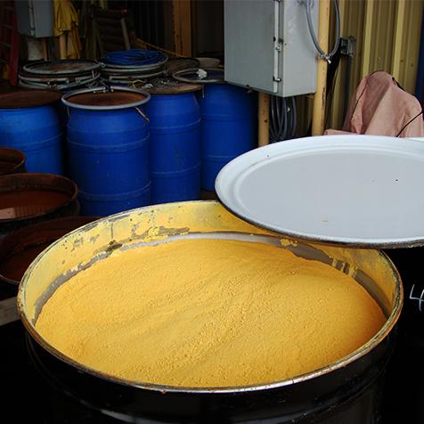 uranium yellow cake drum