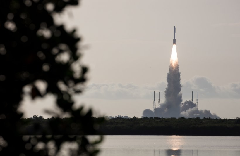 Last summer's launch, with Perseverance onboard the Atlas V rocket in Cape Canaveral, FL. (Credit: NASA/Joel Kowsky)
