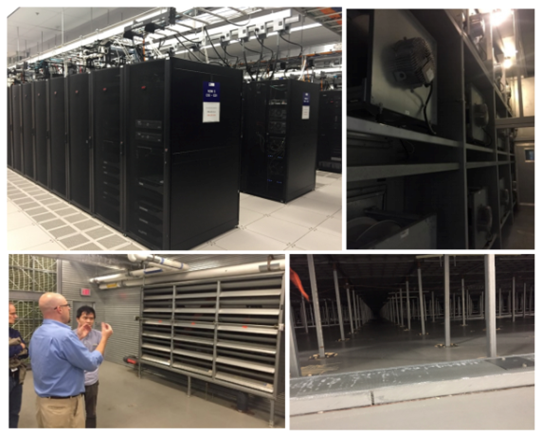 Pictures of the Massachusetts data center from a site audit.