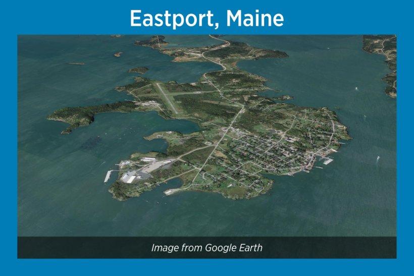Eastport, Maine, Satellite Image