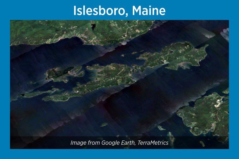 Islesboro, Maine, Satellite Image