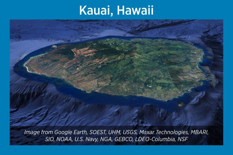 Kauai, Hawaii, Satellite Image