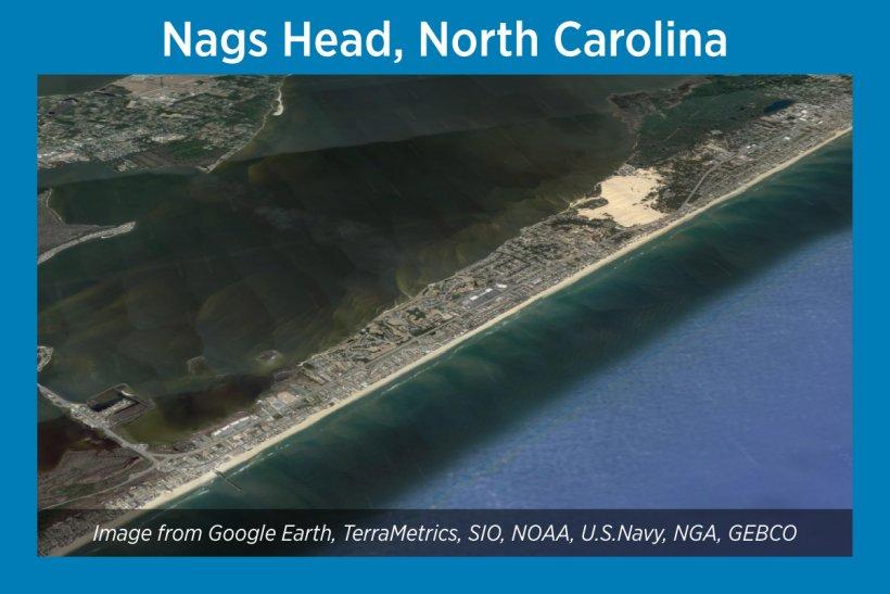 Nags Head, North Carolina, Satellite Image
