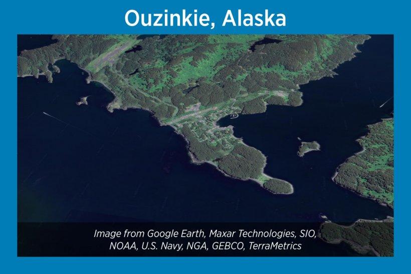 Ouzinkie, Alaska, Satellite Image