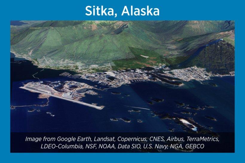 Sitka, Alaska, Satellite Image