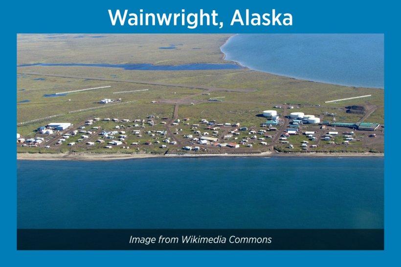 Wainwright, Alaska, Satellite Image