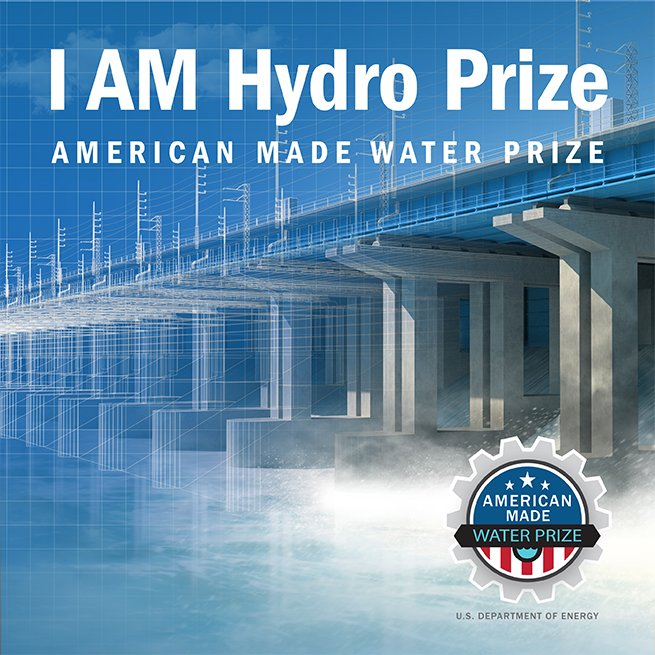 Branding badge for I AM Hydro prize.