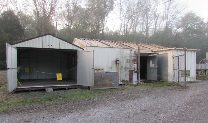A view of the Tritium Target Preparation Facility at Oak Ridge National Laboratory prior to demolition. The building was constructed in 1968 and had not been operational since 1990.