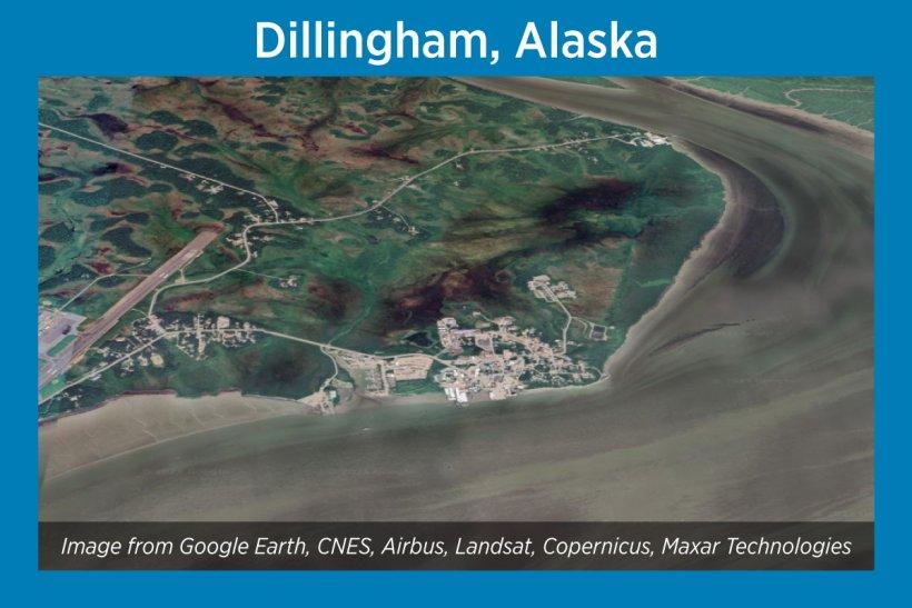 Dillingham, Alaska, Satellite Image