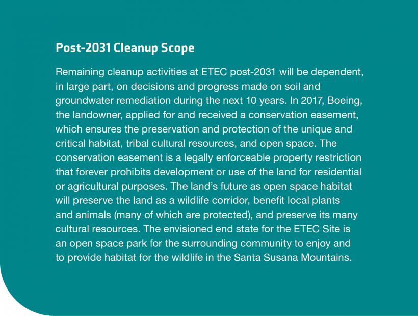 Post-2031 ETEC Cleanup Scope