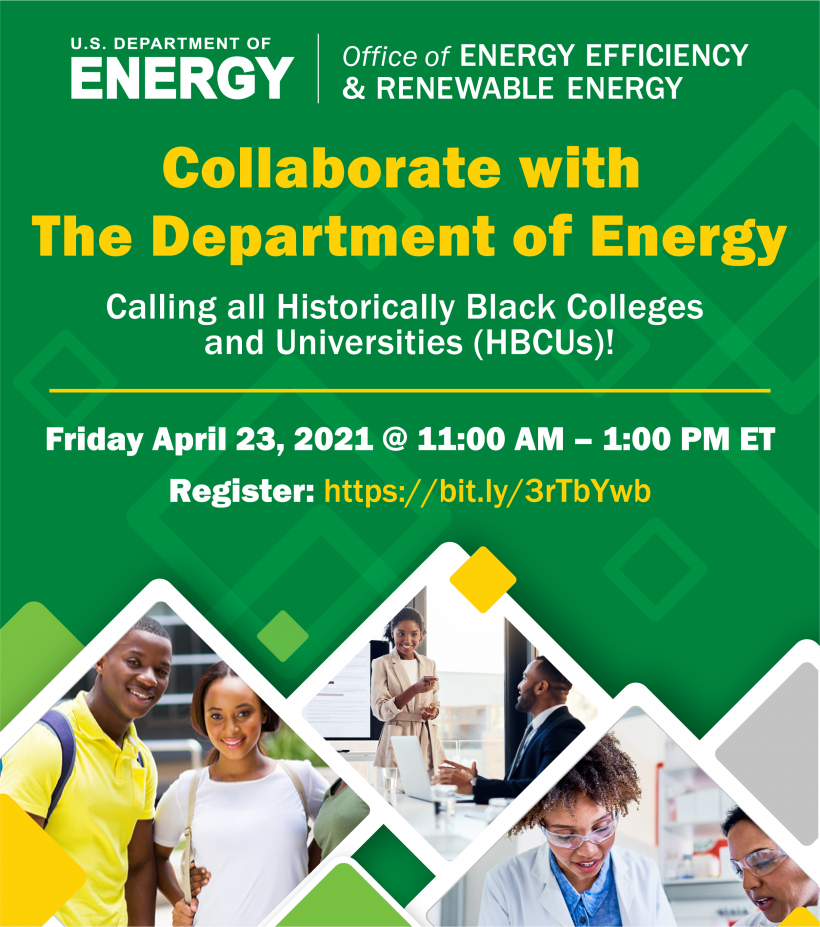 Collaborate with the Department of Energy flyer