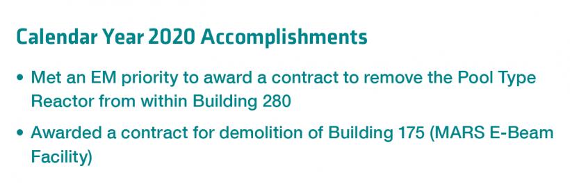 LLNL Calendar Year 2020 Accomplishments