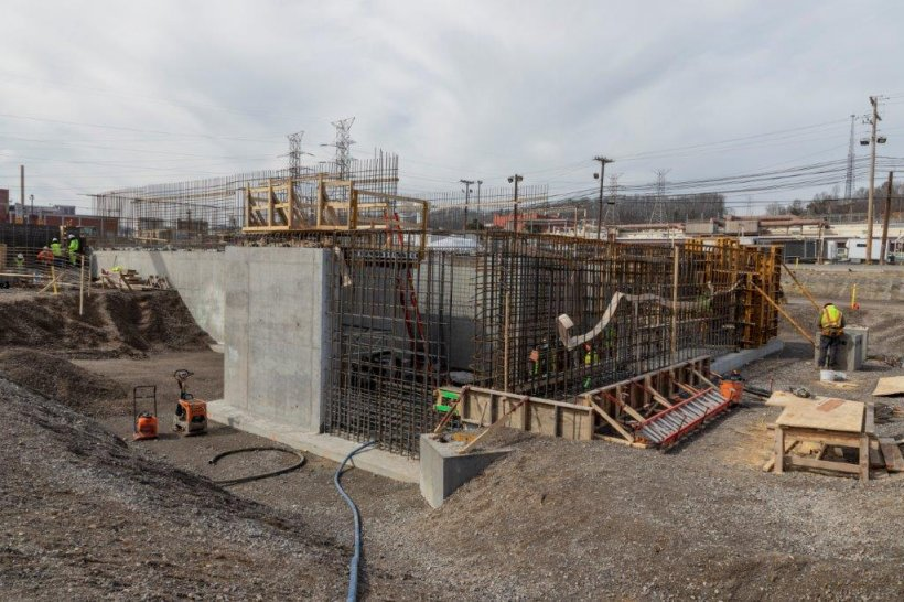 Construction is underway on the Mercury Treatment Facility, which will enable EM to begin addressing some of the most pressing cleanup needs at the Y-12 National Security Complex at Oak Ridge.