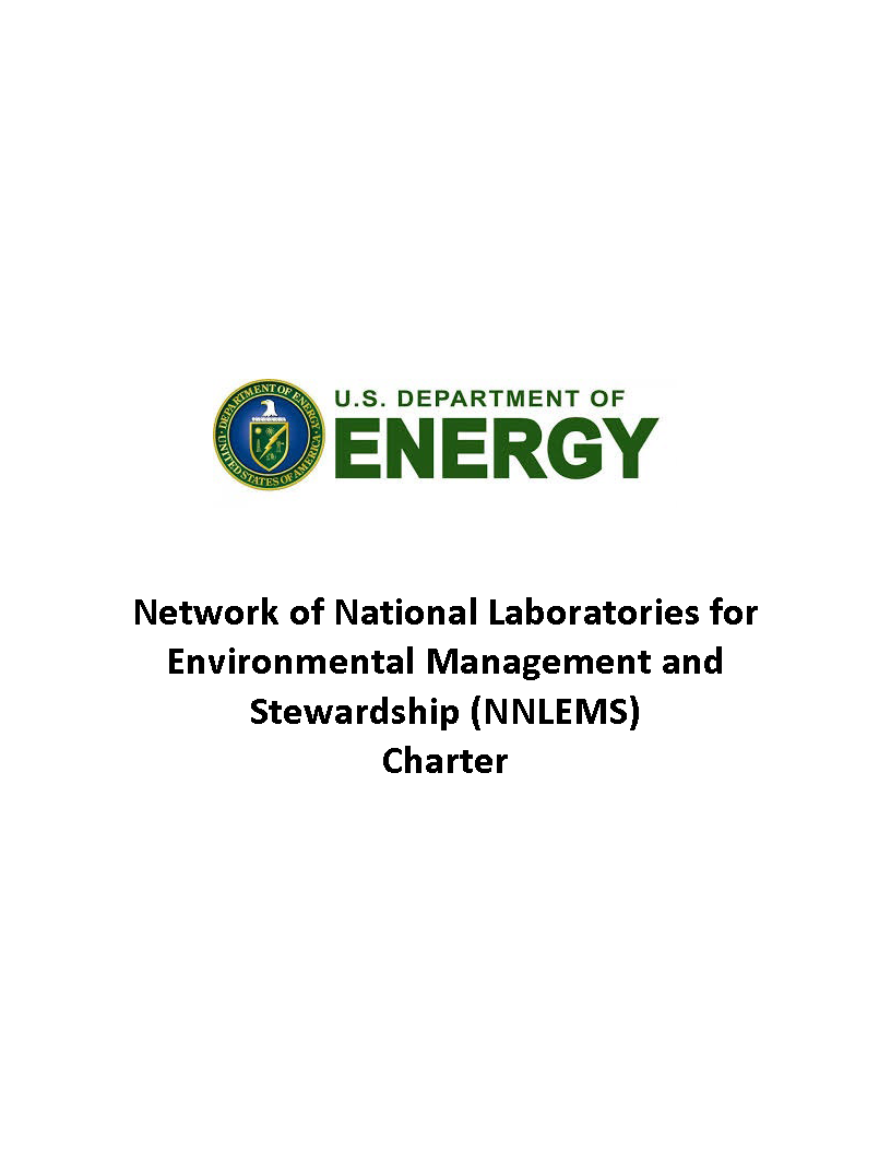 Report Cover for the Network of National Laboratories for Environmental Management and Stewardship Charter