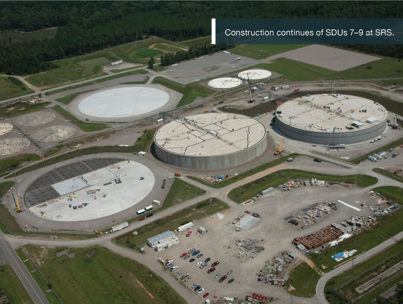 Construction continues of SDUs 7–9 at SRS.