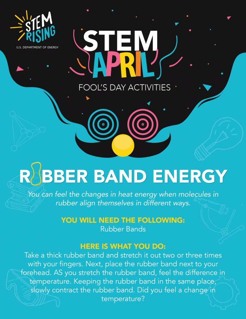 A STEM activity for students about heat and energy for April Fool's Day.