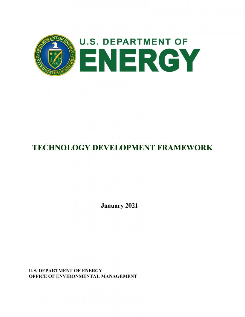 Report Cover for Technology Development Framework