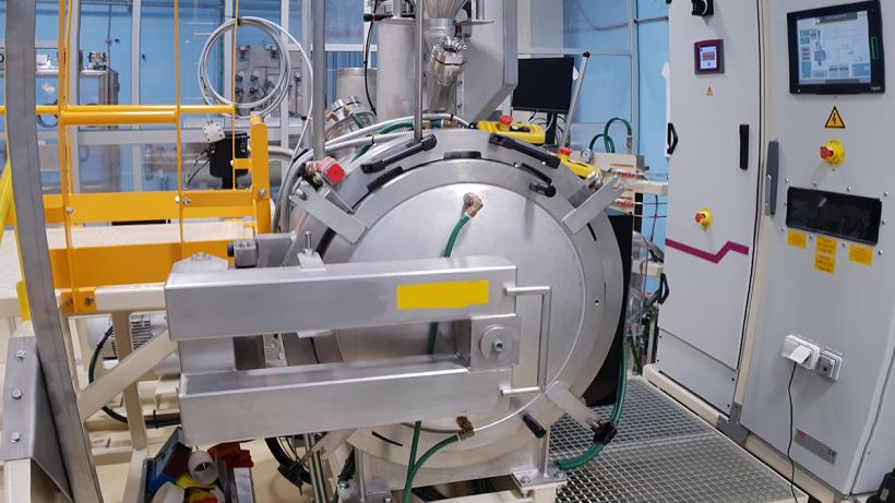 Fusion furnace at TRIGA International facility in France.
