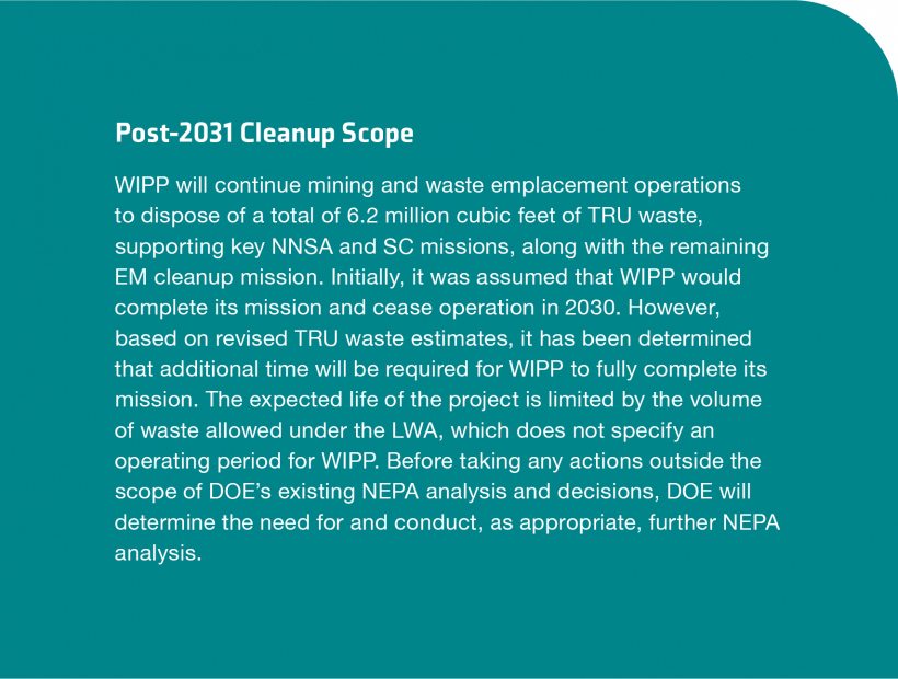 WIPP Post 2031 Cleanup Scope