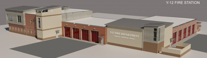 An artist's rendering of what the new Y-12 fire station will look like.