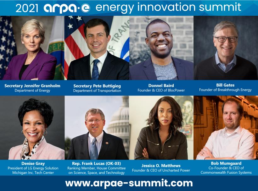 ARPA-E Summit 2021 speakers list