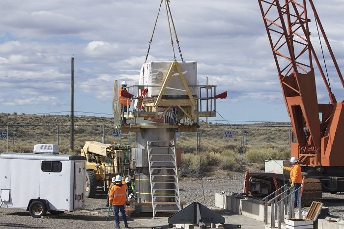 EM crews prepare to place the final waste shipment into a vault at the Subsurface Disposal Area at the Idaho National Laboratory Site.