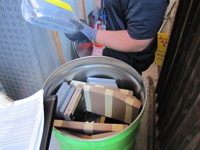A past visual verification of low-level waste conducted at the Nevada National Security Site.