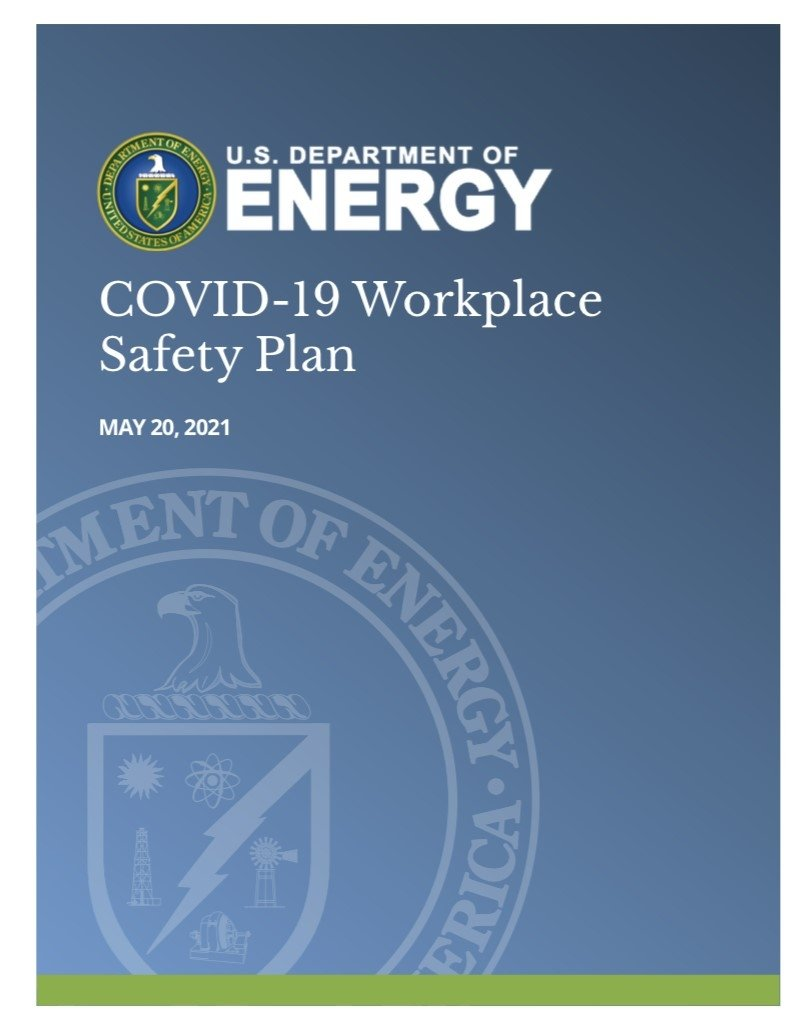 Cover of the revised Workplace Safety Plan