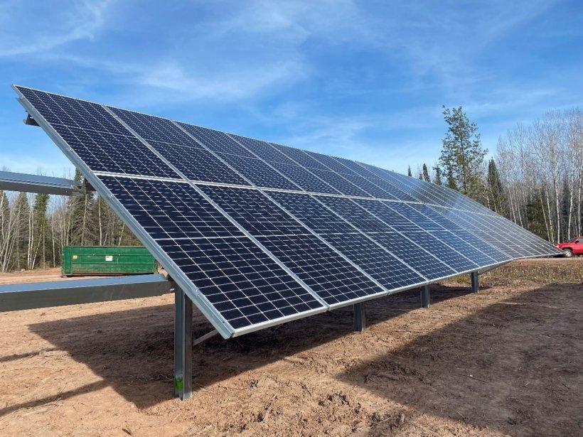 Solar panels on Bad River.