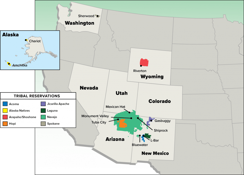 Current LM Tribal Sites Map