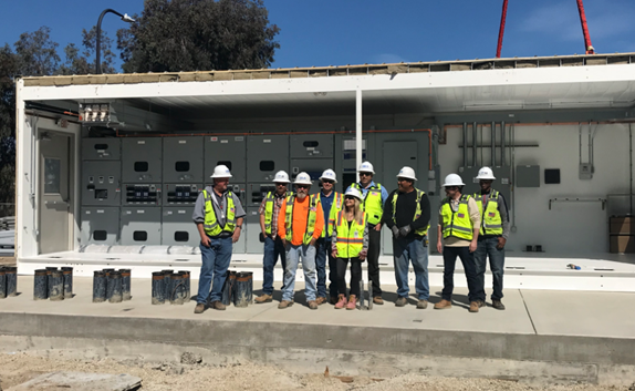 Members of the Load Grid Switchgear Construction crew on the Expand Electrical Distribution System project.