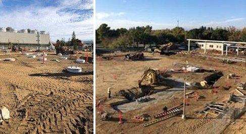 Transmission line foundation drilling