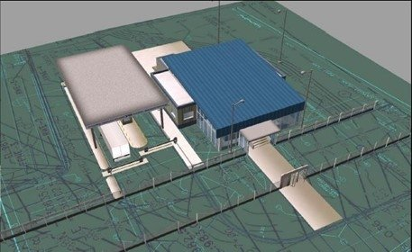 Rendering of the new entry control facility that will be constructed as part of WEPAR.
