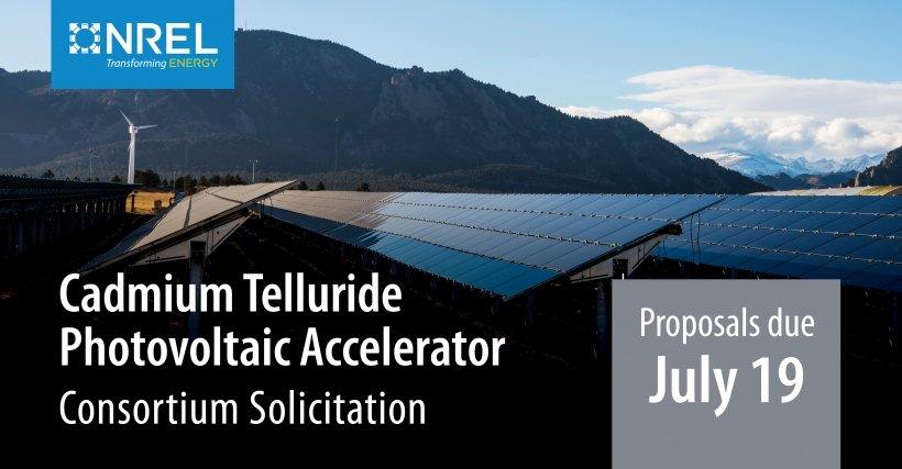 NREL Cadmium Telluride Photovoltaic Accelerator Program graphic