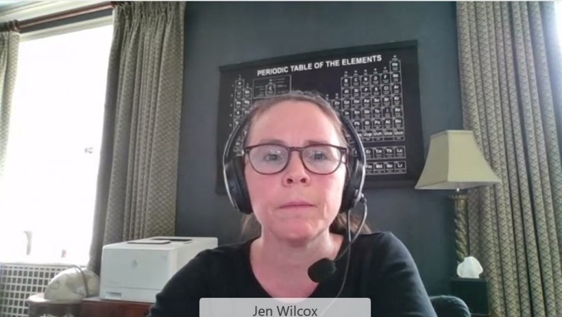 Dr. Jennifer Wilcox delivering her welcome remarks.