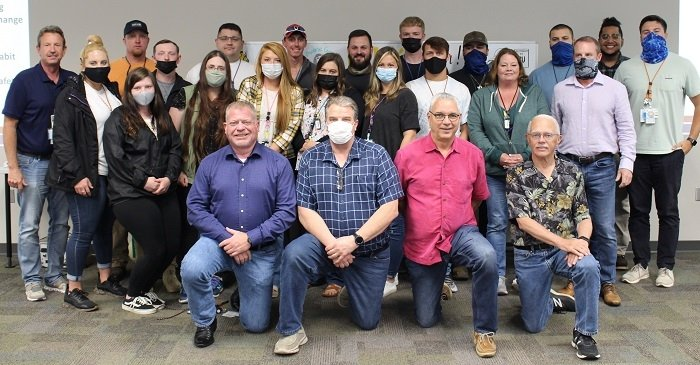 Graduates of the most recent radiation protection technician class at Oak Ridge, pictured with class instructors. All 20 participants passed the certification exam.