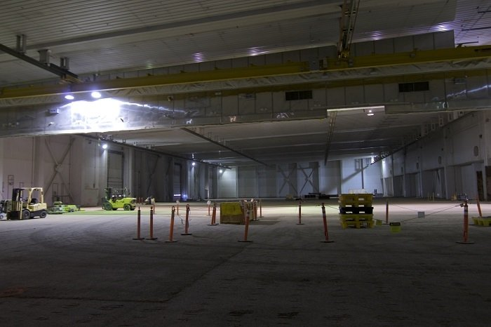A view of the interior of the 316,000-square-foot Transuranic Storage Area/Retrieval Enclosure, which will soon be closed under federal and state regulations.