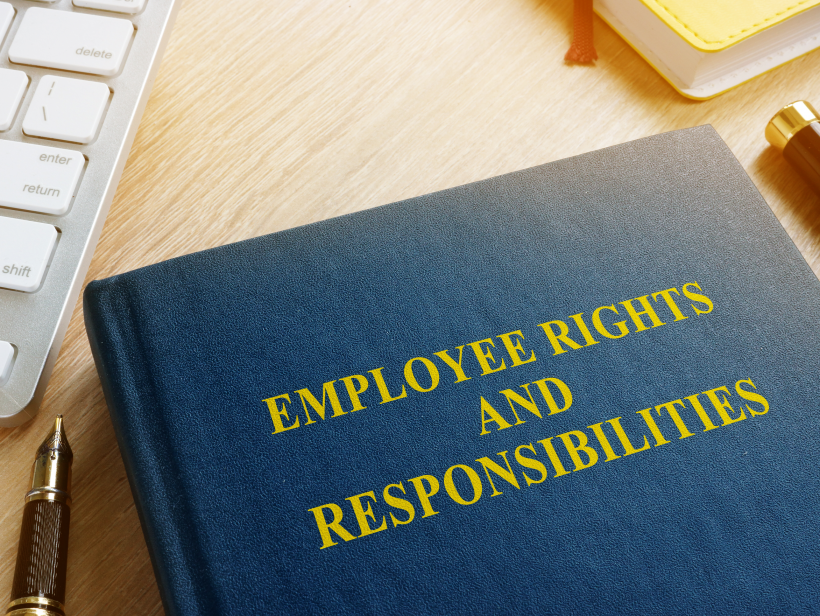 Book with title Employee rights and responsibilities.