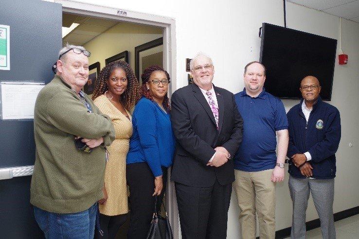Members of the NA-44 team standing with Joe Stambaugh