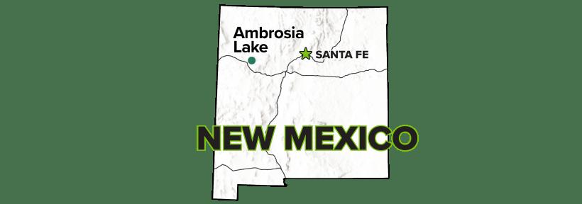 Ambrosia Lake, New Mexico, Disposal Site map.