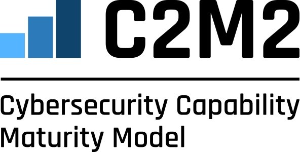 C2M2 bar graph logo over the text: Cybersecurity Capability and Maturity Model